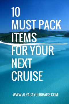 must pack items for cruise